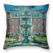 College Fountain Throw Pillow