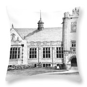 College House Throw Pillow