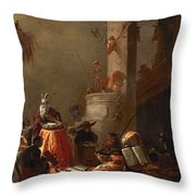College Of Animals 1655 Throw Pillow