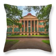 College Of Charleston Main Academic Building Throw Pillow