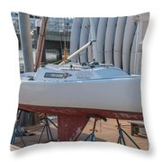 College Of Charleston Sailing Throw Pillow