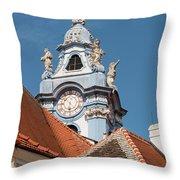 Collegiate Church Tower Throw Pillow