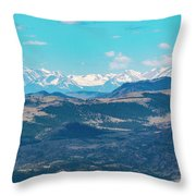 Collegiate Peaks From Little Grouse Mountain Throw Pillow