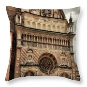 Colleoni Chapel Throw Pillow