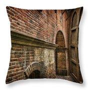 Colliding Walls Throw Pillow