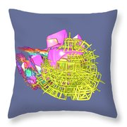 Colliding Worlds Throw Pillow