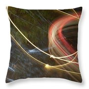 Colliding Worlds  Throw Pillow by Michael Lucarelli