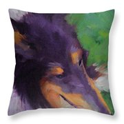 Collie Girl Siena Throw Pillow