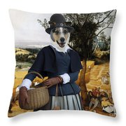 Collie Smooth - Smooth Collie Art Canvas Print - The Harvesters Throw Pillow