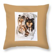 Collie W/ghost Throw Pillow