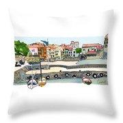 Collioure,    Cote De Vermeille Throw Pillow