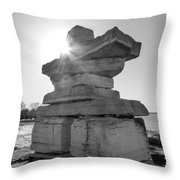 Collingwood Inukshuk Throw Pillow