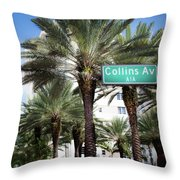 Collins Av A1a Throw Pillow