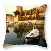 Collioure Castle Throw Pillow