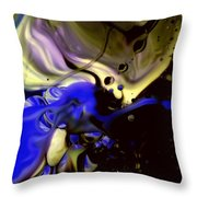 Collision Of Color Throw Pillow
