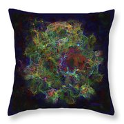 Collision Of Worlds Throw Pillow