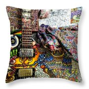 Collorfull Music Throw Pillow
