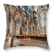 Cologne Cathedral Interior Throw Pillow