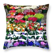 Cologne Flowers Throw Pillow