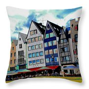Cologne On The Rhine Throw Pillow