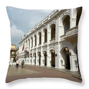 Colombia Courtyard Throw Pillow