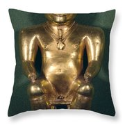 Colombia: Gold Figure Throw Pillow