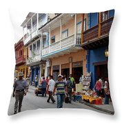 Colombia Streets Throw Pillow
