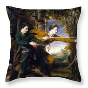 Colonel Acland And Lord Sidney Archers Throw Pillow