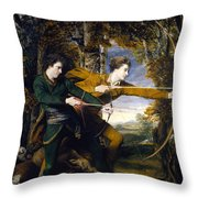Colonel Acland And Lord Sydney The Archers Throw Pillow