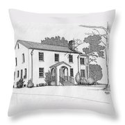 Colonel Quarters 2 - Fort Benning Ga Throw Pillow