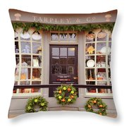 Colonial Commerce Throw Pillow