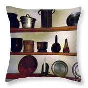 Colonial Cook's Cupboard Throw Pillow
