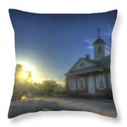Colonial Courthouse  Throw Pillow