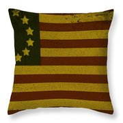 Colonial Flag Throw Pillow