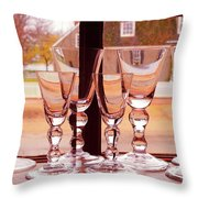 Colonial Glassware Throw Pillow
