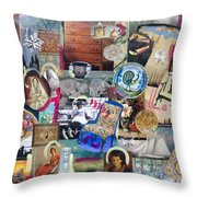 Colonial Heritage - Panel 4 Throw Pillow
