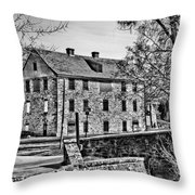 Colonial Industrial Quarter Throw Pillow