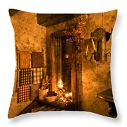 Colonial Kitchen Evening Throw Pillow