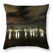 Colonial Lake At Night Throw Pillow
