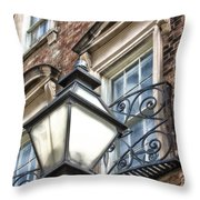 Colonial Lamp And Window Throw Pillow