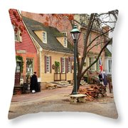 Colonial Morning Throw Pillow
