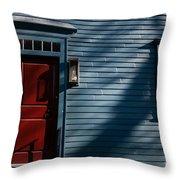 Colonial Red Door Newport Rhode Island Throw Pillow