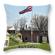 Colonial Soldiers Throw Pillow
