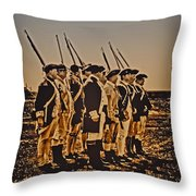 Colonial Soldiers On Parade Throw Pillow