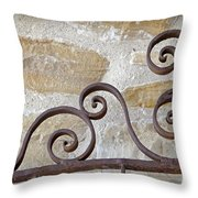 Colonial Wrought Iron Gate Detail Throw Pillow