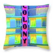 Colony Hotel Throw Pillow