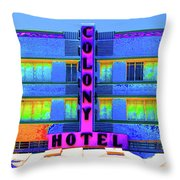 Colony Hotel Palm Throw Pillow