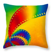 Color 35mm Strip Throw Pillow