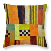 Color And Pattern Abstract Throw Pillow