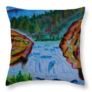 Color At The Firehole Throw Pillow